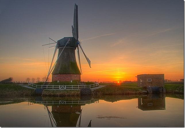 photoshare Beautiful Sunset Nieuw Scheemda Netherlands henhoekstra